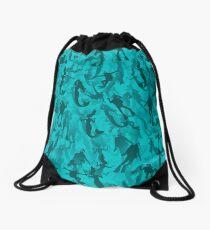 Divers and mermiads Drawstring Bag