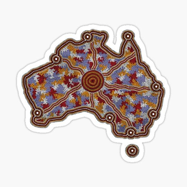 Authentic Aboriginal Art - Aboriginal Australia Sticker