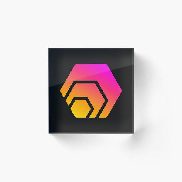 HEX Crypto Hexagon  Acrylic Block