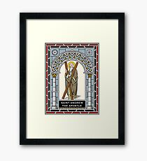 ST ANDREW THE APOSTLE under STAINED GLASS Framed Print