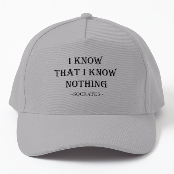 I know that I know nothing by Socrates Baseball Cap