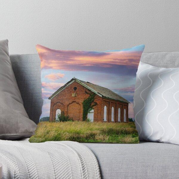 School House Throw Pillow