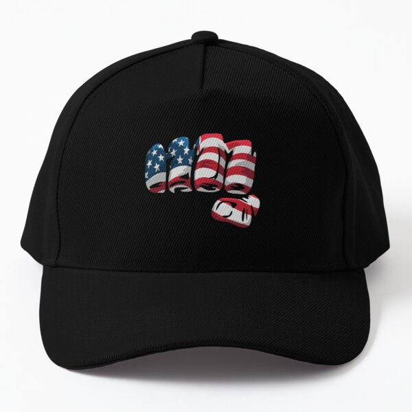 American Flag Fist Baseball Cap