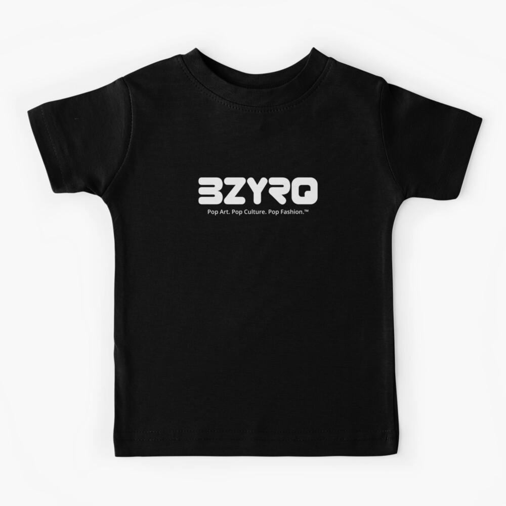 BZYRQ Logo (White on Black) Kids T-Shirt