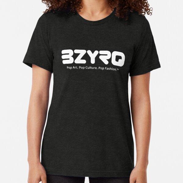 BZYRQ Logo (White on Black) Tri-blend T-Shirt
