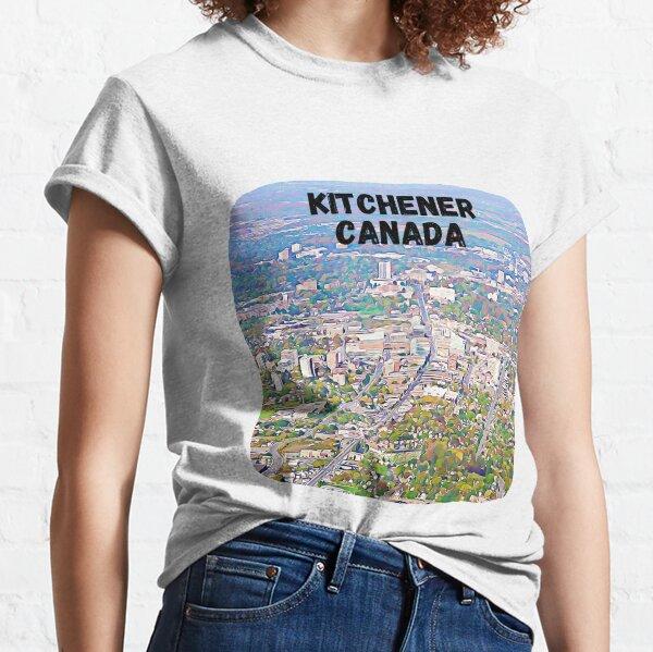 Kitchener Canada Skyline Painting Classic T-Shirt