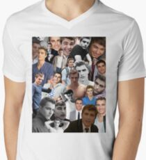 d149c1ff59a824 Dave Franco Collage Men s V-Neck T-Shirt