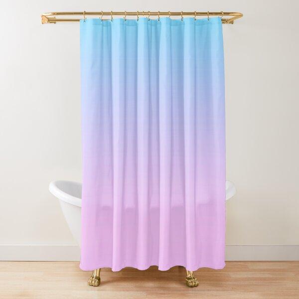 Pink Blue Gradient Shower Curtain