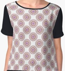 Red Wire Lace Women's Chiffon Top