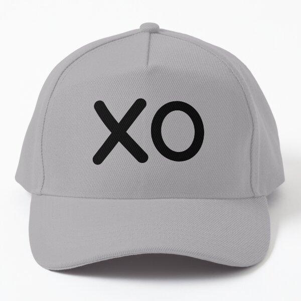 Classic Minimal XO Hugs and Kisses Text Words Pattern Baseball Cap