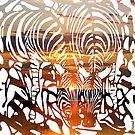 Zebras at Sunset by Alan Hogan