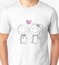 bride and groom, pencil sketch T-Shirt