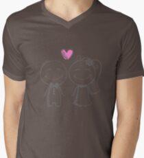 bride and groom, pencil sketch Mens V-Neck T-Shirt