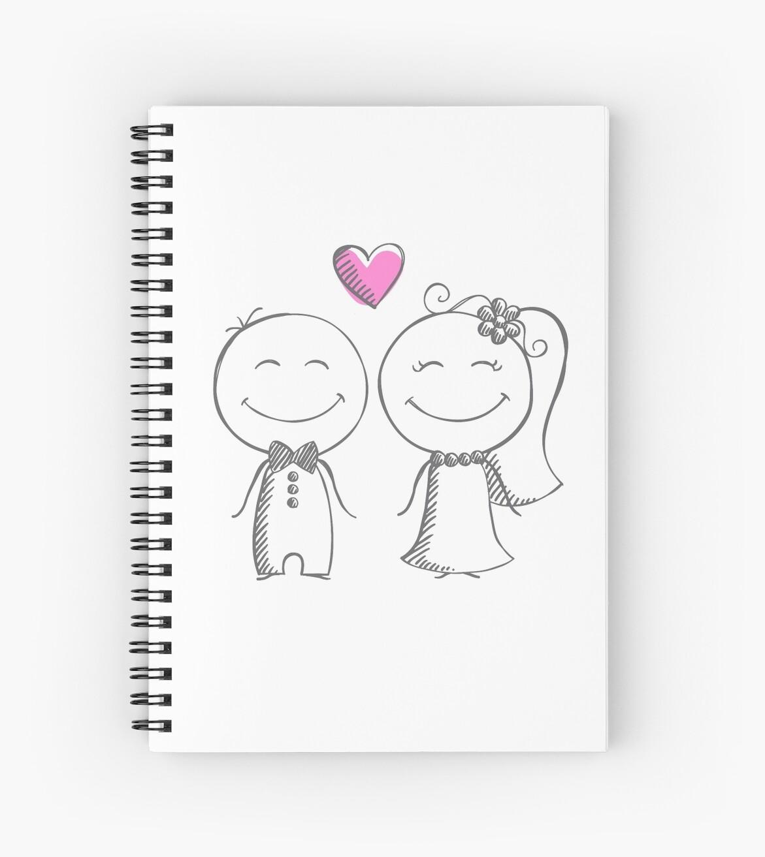 a36d03ac97 Cuaderno de espiral «novia y novio