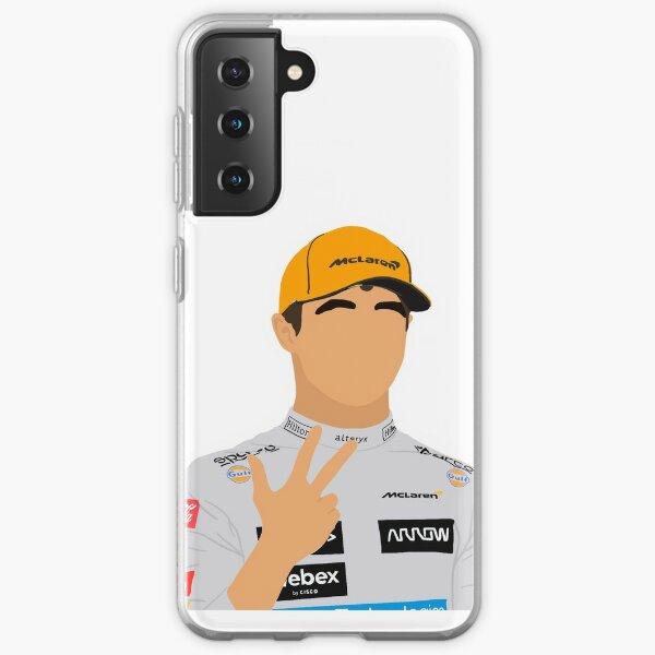 Lando Norris celebrating a P3 podium finish Samsung Galaxy Soft Case