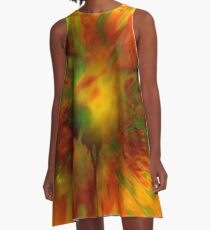 Citrus Splash A-Line Dress