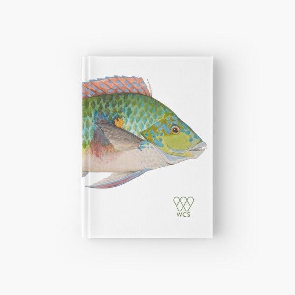 Green Parrot Fish Hardcover Journal