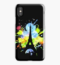 silhouette  of eiffel tower  iPhone Case/Skin