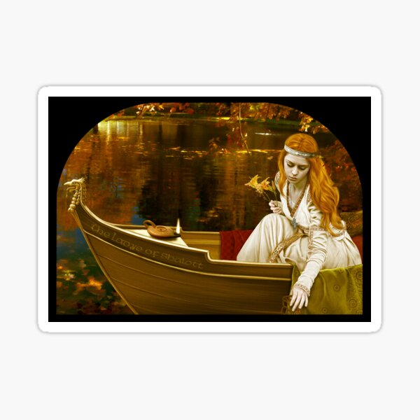 The Lady of Shalott Sticker