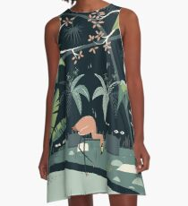 Nightshade Jungle A-Line Dress