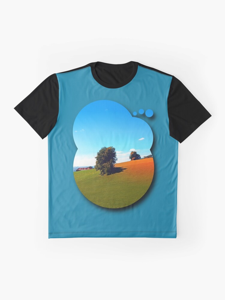 Alternate view of Trees, a hidden farm and fields of summer Graphic T-Shirt