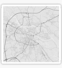 Wroclaw, Poland Map. (Black on white) Sticker