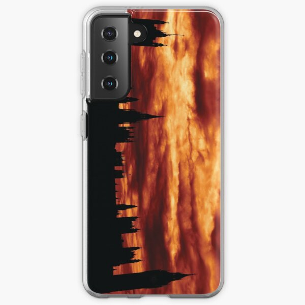 Second Dramatic Houses of Parliament At Dusk With Orange Clouds Samsung Galaxy Soft Case