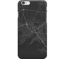 Brasov, Romania Map. (White on black) iPhone Case/Skin