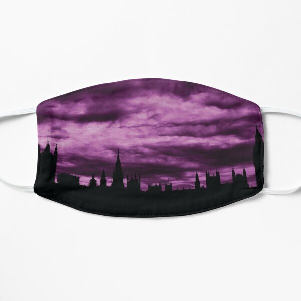 Second Dramatic Houses of Parliament At Dusk With Purple Clouds Flat Mask