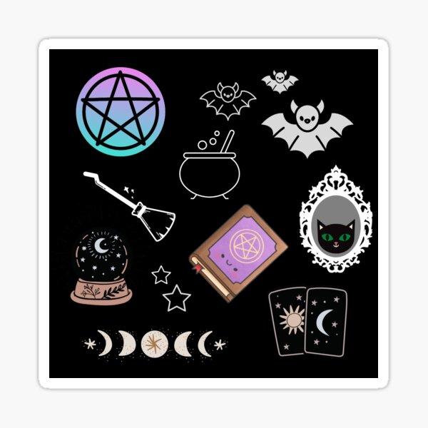 Pastel Goth Witchy Pattern Sticker