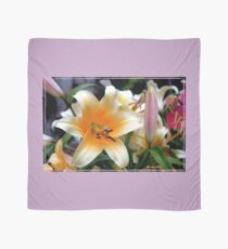 Tequila Sunrise Lily with Raindrops Scarf