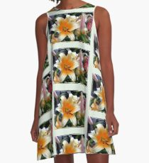 Tequila Sunrise Lily with Raindrops A-Line Dress