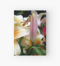 Tequila Sunrise Lily with Raindrops Hardcover Journal