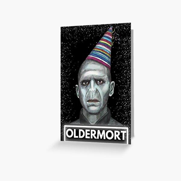 oldermort Birthday Card, HORROR cards, Funny Birthday Card, Oldermort Greeting Card, Funny DARK Birthday Card,Ghost Face, Birthday Feast Greeting Card