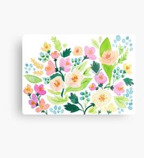 Watercolor Florals Metal Print