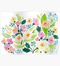 Watercolor Florals Poster