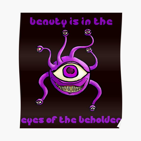 Beauty is in the Eyes Poster