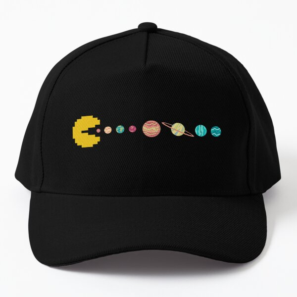 Solar System GAME OVER - Pixel Sun Eating All Planets of our Solar System Baseball Cap