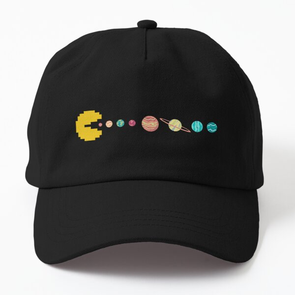 Solar System GAME OVER - Pixel Sun Eating All Planets of our Solar System Dad Hat
