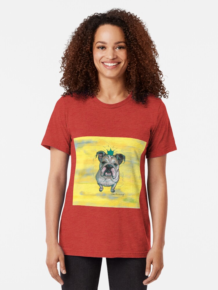 Alternative Ansicht von Bulldoggen Prinzessin Vintage T-Shirt