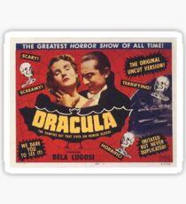 Dracula 1931 Movie Poster Sticker