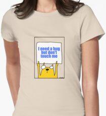 Camiseta entallada para mujer Necesito un abrazo, pero no me toques