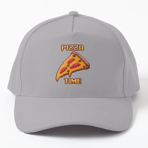 Pixel Art - Pizza Time Awesome Food Baseball Cap