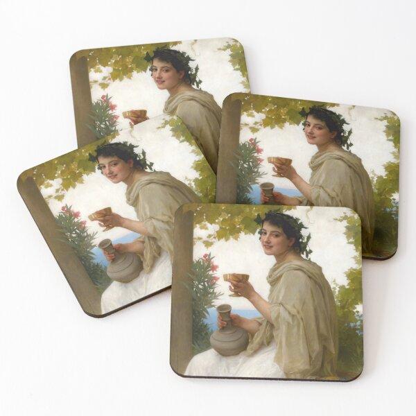 Bacchante by Bouguereau Coasters (Set of 4)