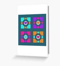 Companion Cubism Greeting Card