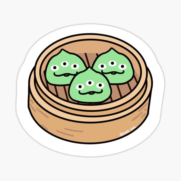 alien dumplings Sticker