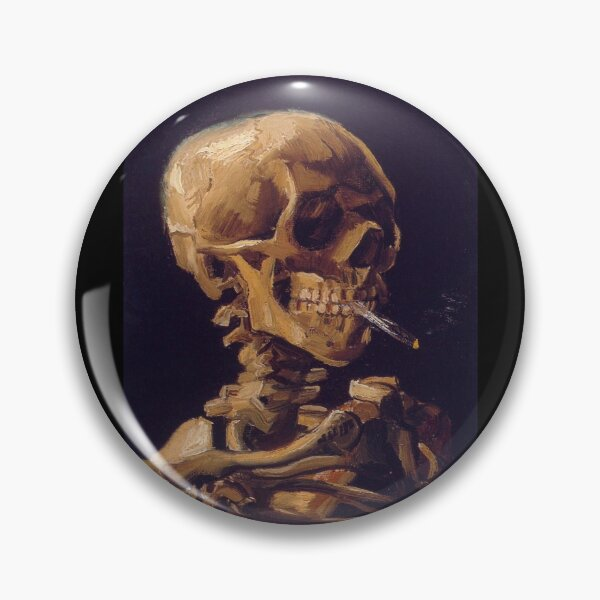 Vincent Van Gogh's 'Skull with a Burning Cigarette'  Pin