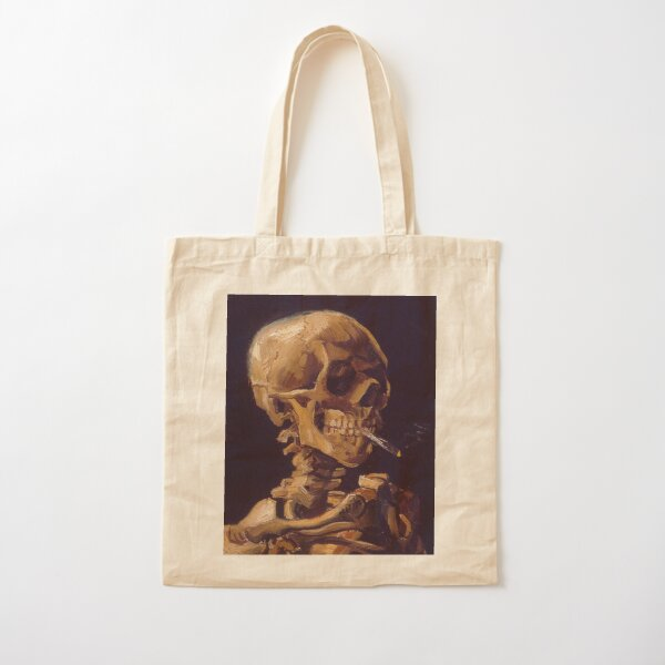Vincent Van Gogh's 'Skull with a Burning Cigarette'  Cotton Tote Bag
