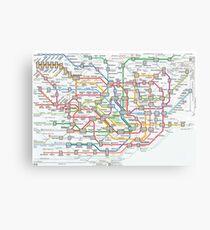 tokyo underground map Canvas Print