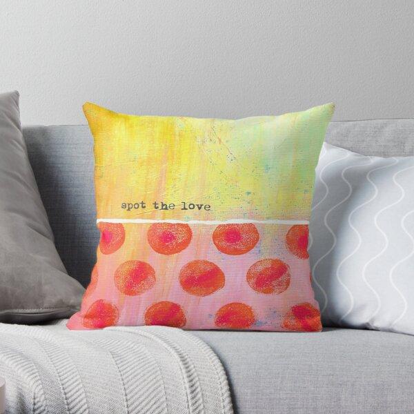 """Spot The Love"" Original design by PhillipaheART Throw Pillow"